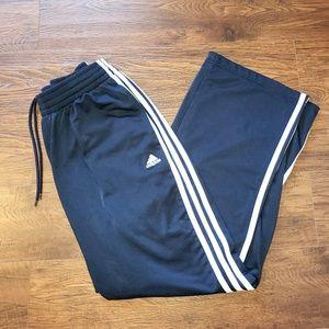 adidas Pants - Adidas Navy Blue 3 Stripe Trackpants